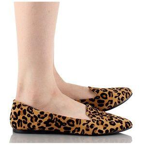 6478eab18 S. the Widow Shoes - SLOANE Leopard Print Loafers